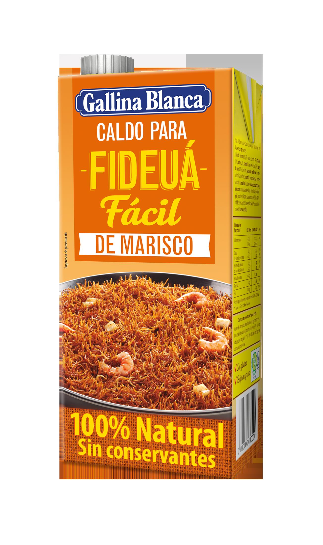 Caldo para Fideuá Fácil de Marisco 100% Natural