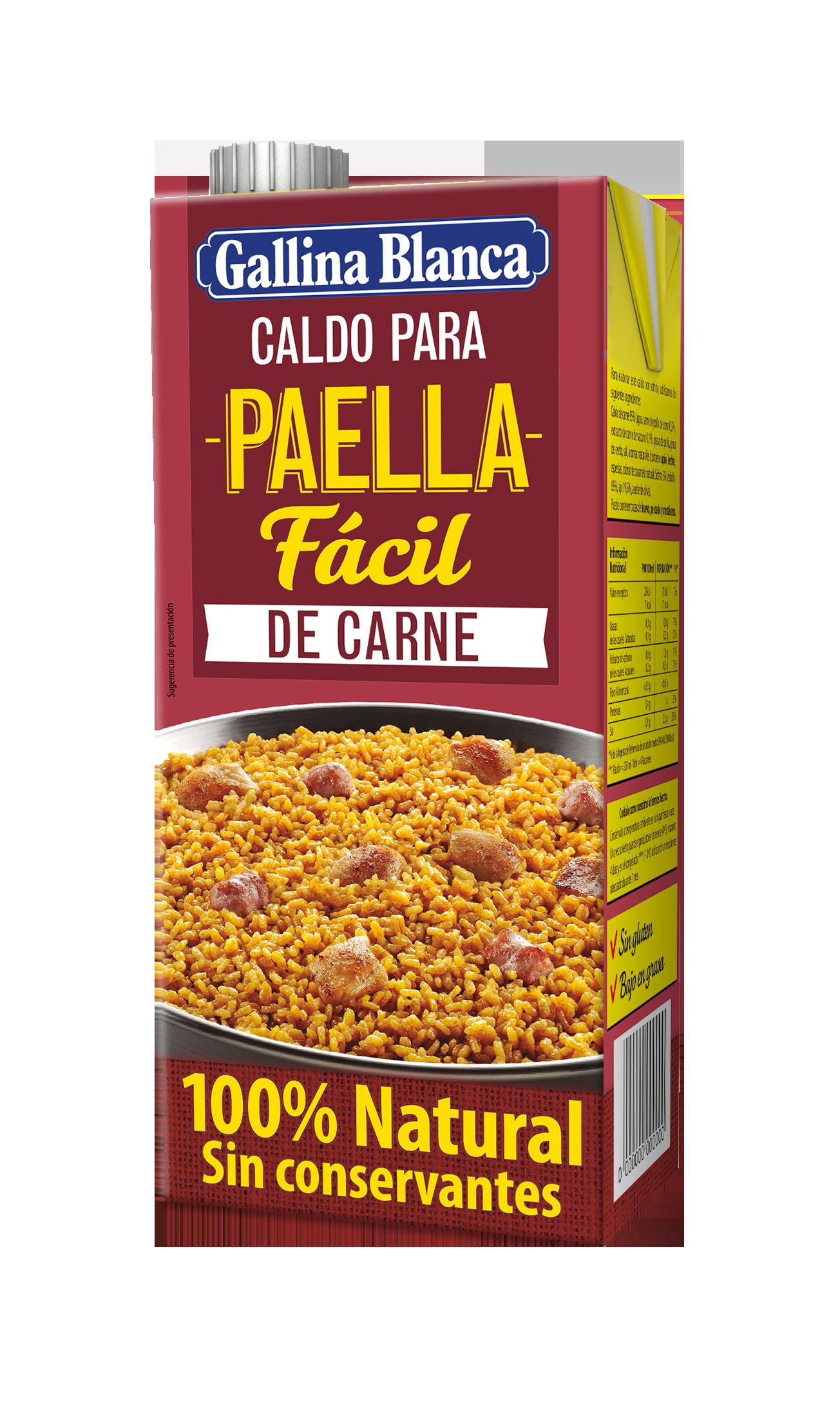 Caldo para Paella Fácil de Carne 100% Natural
