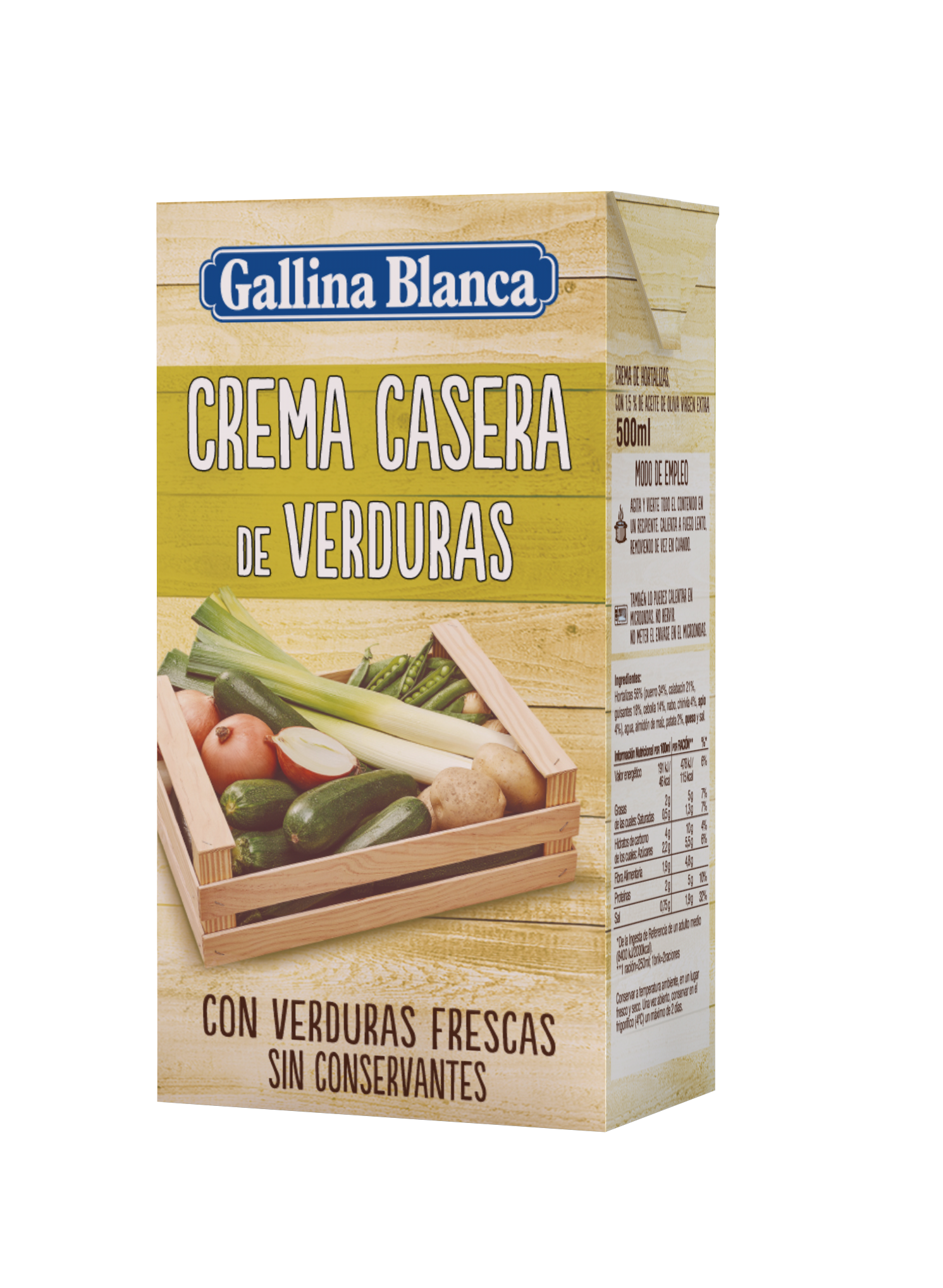 Crema Casera de Verduras