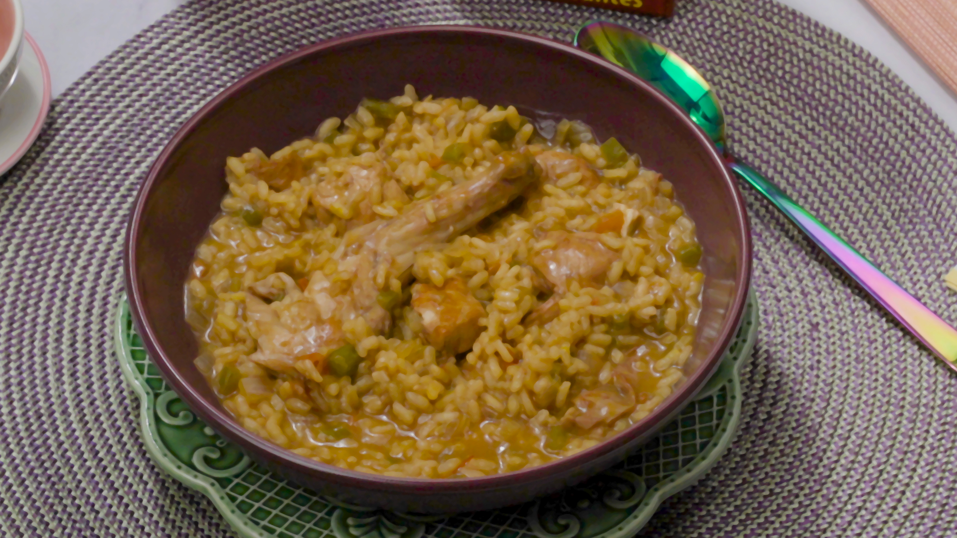 como hacer arroz caldoso con pollo y conejo