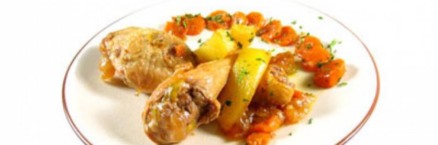 Recetas de pollo con zanahoria y cebolla