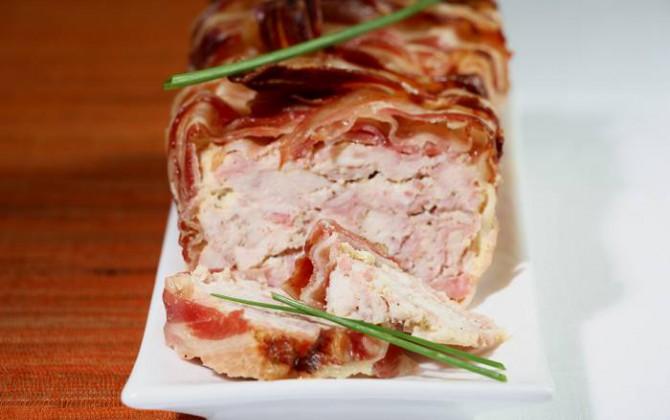 Receta de fiambre de pollo, jamón y bacon