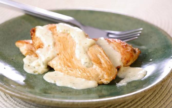 Pechugas de pollo con nata