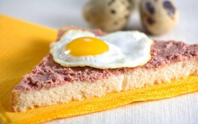 Nice Montadito Con Huevos Fritos De Codorniz ...