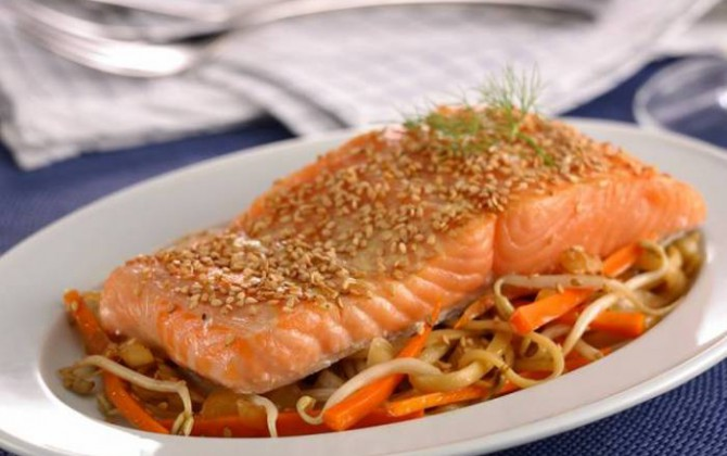 receta de salmón con sésamo y soja