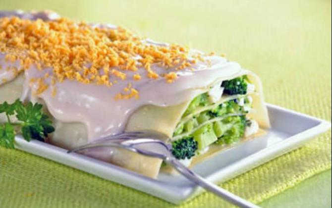 Lasaña con Brócoli