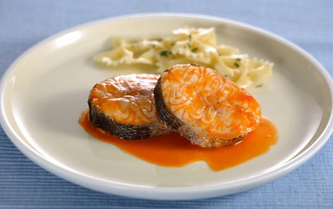 Merluza en salsa roja
