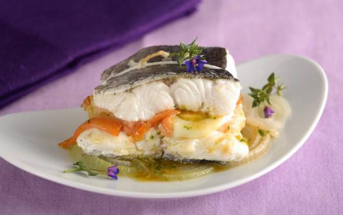 Merluza rellena con salmón