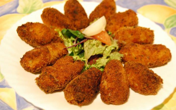 croquetas de pescado (sobras de pescado)