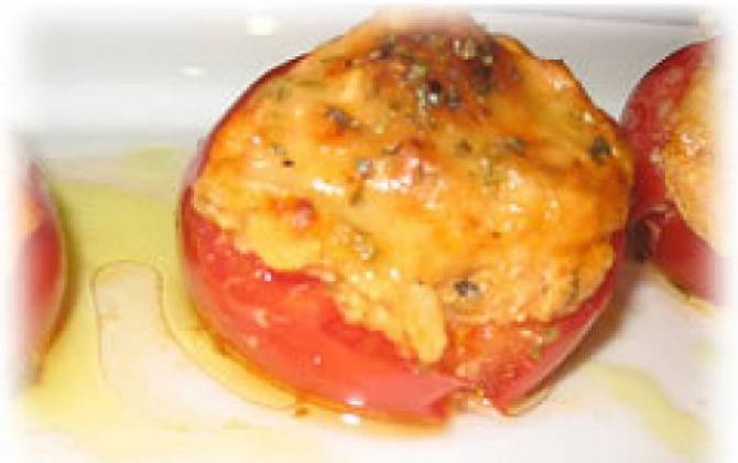 tomates gratinados con atún