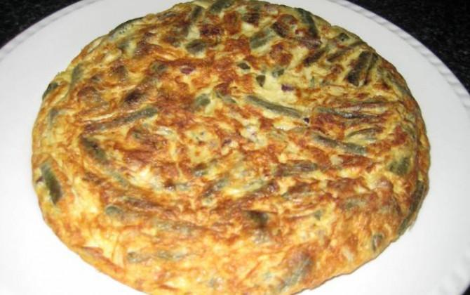 tortilla de judias verdes