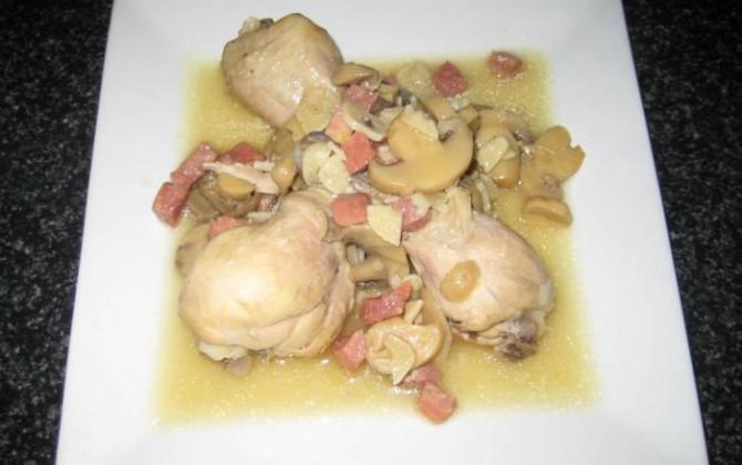 jamoncitos de pollo en salsa