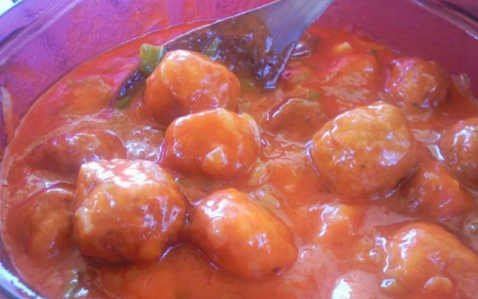 albóndigas caseras con tomate casero