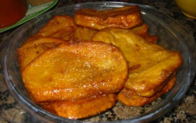rebanadas de pan frito