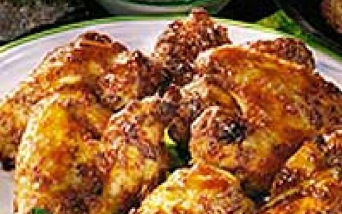 alitas de pollo a la mostaza