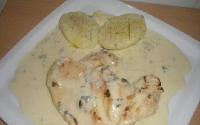 pechugas de pollo al roquefort