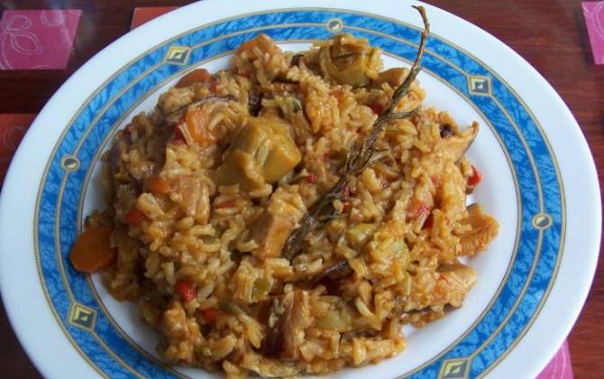 arroz con cordero de sobras