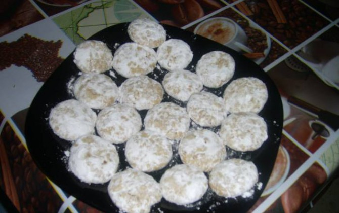 galletas de nueces y mantequilla