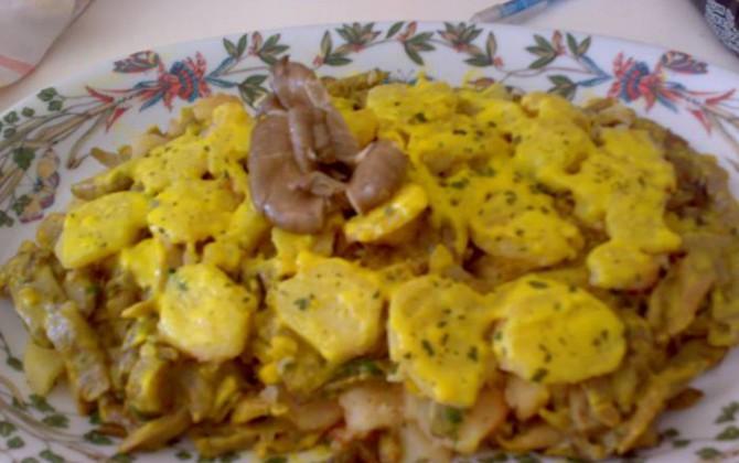 setas al horno con patatas