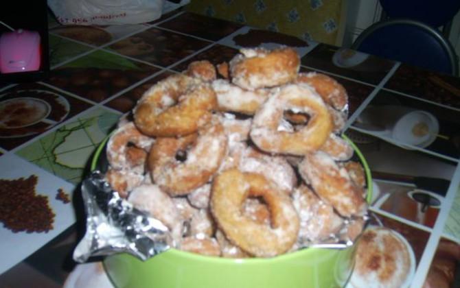 rosquillas de almendra y nuez