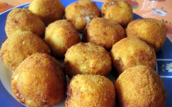 croquetas de patata y chistorra