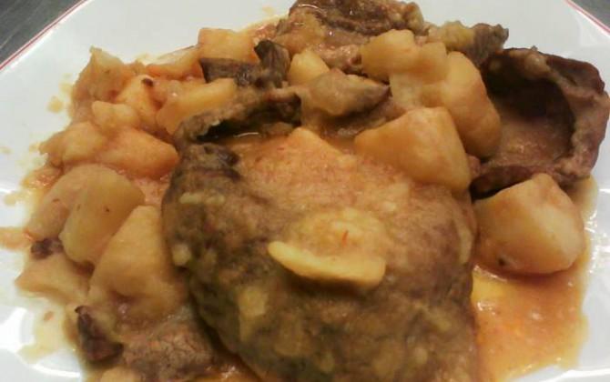 fricandó de ternera con patatas