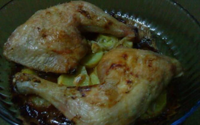 muslos de pollo al horno de dieta