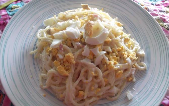 espaguetis con nata y bacon para juanjose73