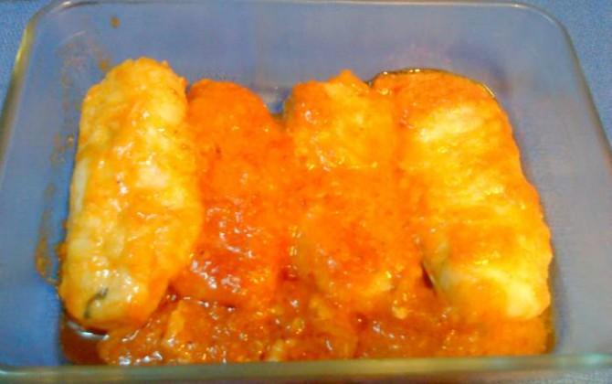 lomos de merluza rápida con tomate para tupper
