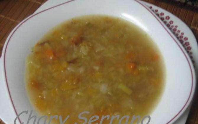 sopa de col y calabaza
