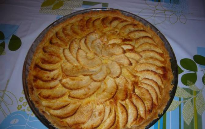 tarta de manzana con coco