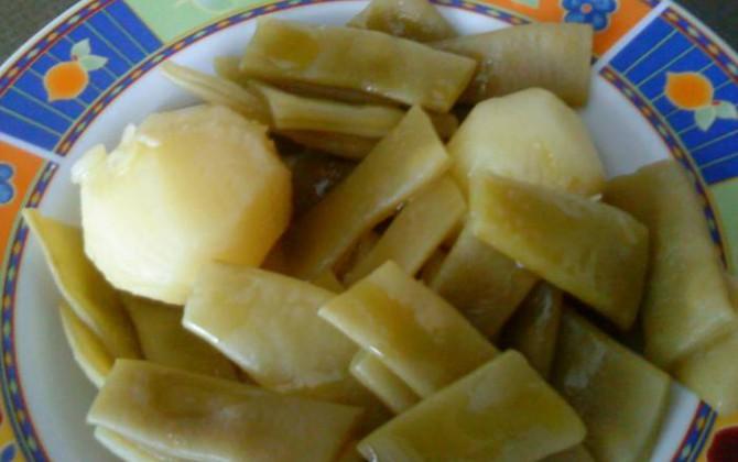 judías verdes con patata de dieta