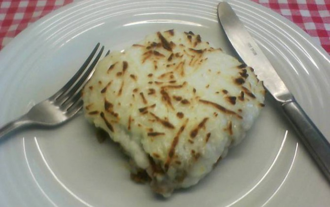 moussaka de bacalao