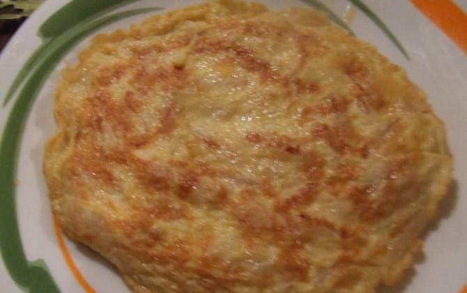 tortilla de espárragos blancos