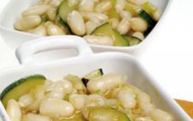 alubias  blancas con verduras