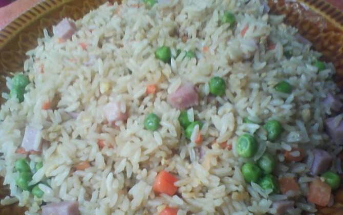 arroz frito con soja