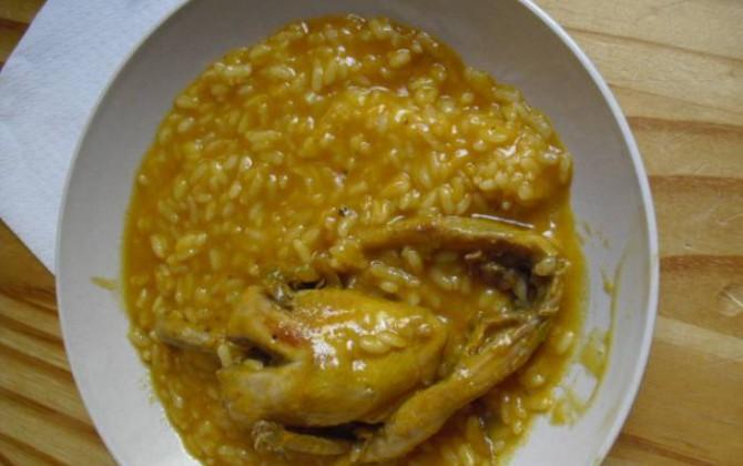 codornices con arroz