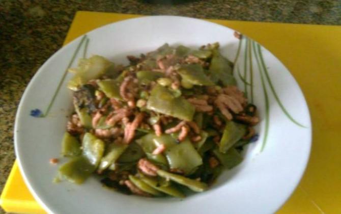 judias verdes con pollo