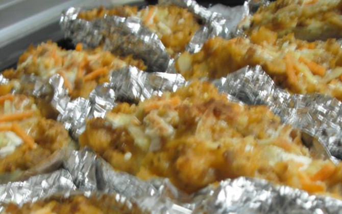 patatas asadas a la boloñesa