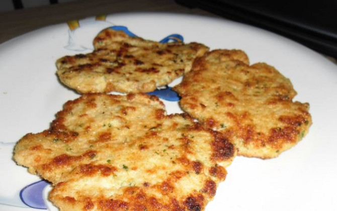 filetes rusos de carne picada de pollo