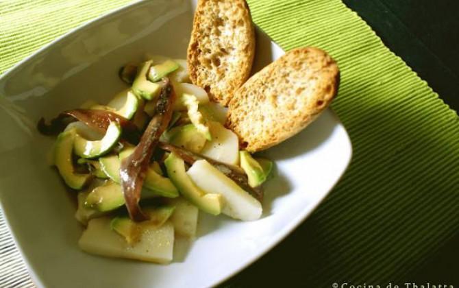 ensalada de patata y aguacate
