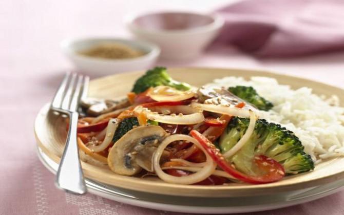 Receta de salteado de verduras al estilo oriental