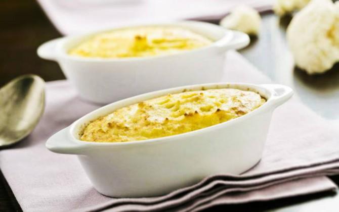 Coliflor con queso