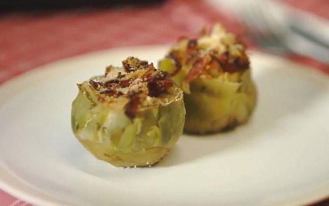 Receta de alcachofas rellenas de jamón