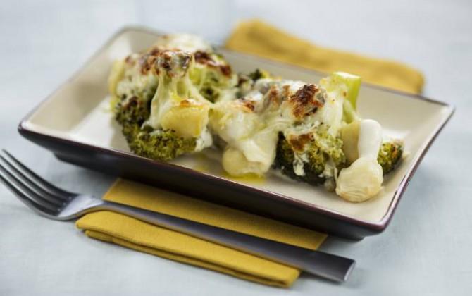 Ñoquis con brócoli