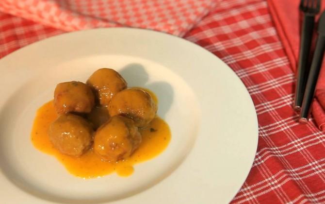 Receta de albóndigas con salsa de calabaza