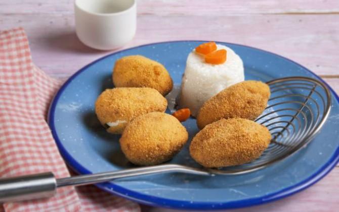 Receta de huevos rebozados con bechamel