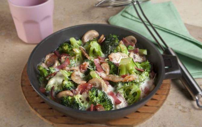 Receta de gratinado de brócoli y champiñones