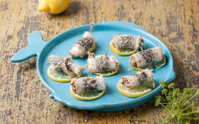 Sardinas con limón y laurel