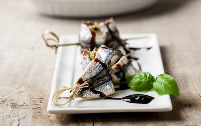 Anchoas al pesto
